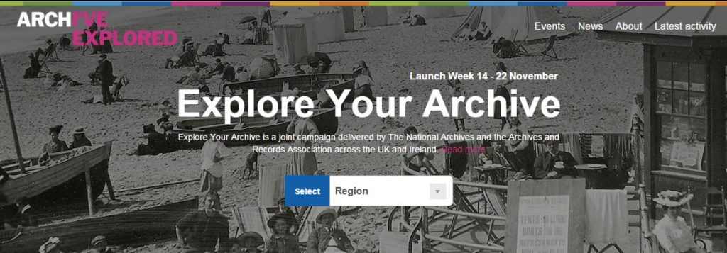 Explore Your Archive campaign homepage