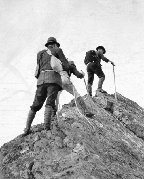 Climbers on Mount Garibaldi