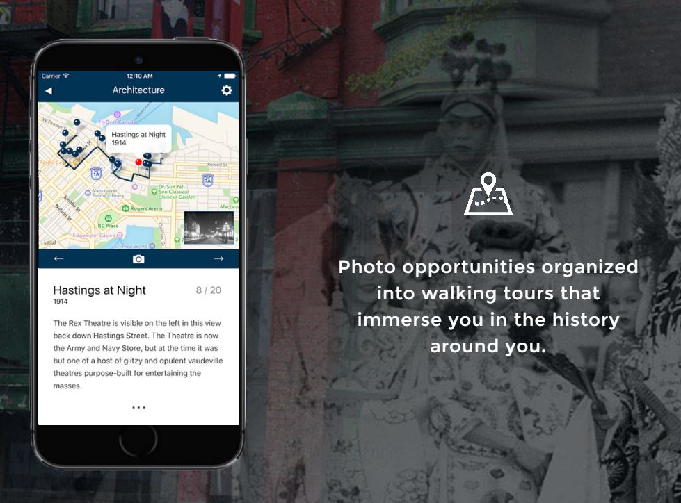Curated walking tours (On This Spot App)