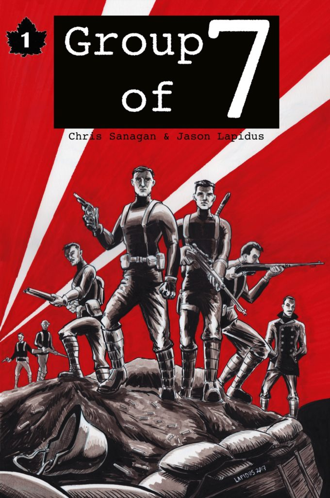 Cover page for the Group of 7 comic book