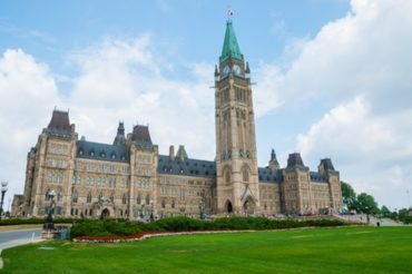 Centre block of the Parliament buildings in Ottawa
