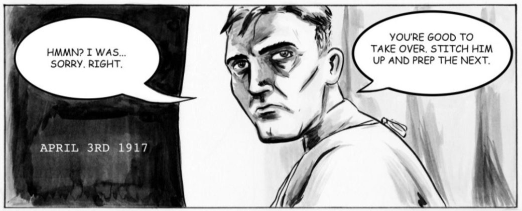 Frame from the Group of 7 comic